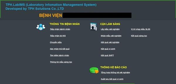 Phần mềm quản lý Khoa xét nghiệm TPH.LabIMS